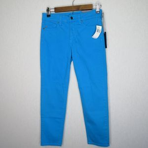NWT NYDJ Not Your Daughters Jeans ANKLE Brilliant BLUE Lizard PRINT Petite Pants